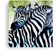 Zebra Love Canvas Print