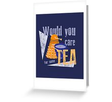 Dalek with Tea Greeting Card