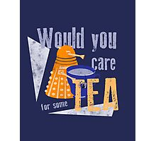 Dalek with Tea Photographic Print