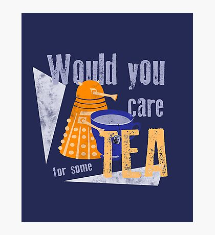 Dalek with Tea Photographic Print