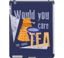 Dalek with Tea iPad Case/Skin