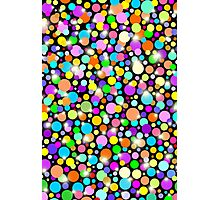 Psychedelic Colors Bright Polka Dots Photographic Print