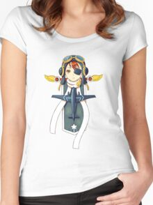 Pilot Banner Women's Fitted Scoop T-Shirt