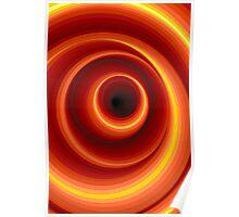 Hypnotic Virtual Orange Vertigo Hole Poster