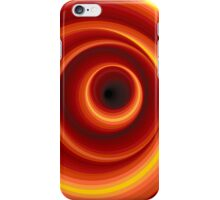 Hypnotic Virtual Orange Vertigo Hole iPhone Case/Skin