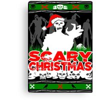 Scary Christmas Zombies Canvas Print
