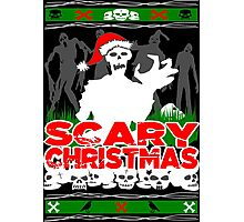 Scary Christmas Zombies Photographic Print