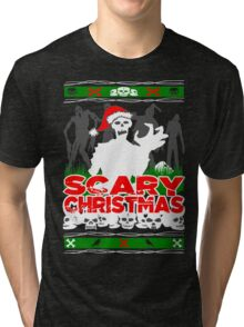 Scary Christmas Zombies Tri-blend T-Shirt