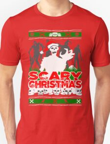 Scary Christmas Zombies Unisex T-Shirt
