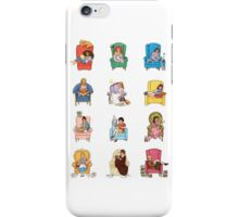 Reading fictional characters iPhone Case/Skin