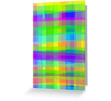 Psychedelic Squares Texture Pattern Greeting Card
