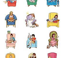Reading fictional characters by susannesart