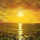 Atlantic Sunset Panorama by Cherie Roe Dirksen