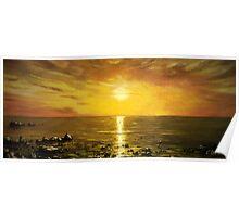 Atlantic Sunset Panorama Poster