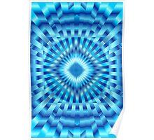 Hypnotic Blue Poster