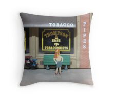 The shadier side of St. Patrick's Day----Erin go braghless Throw Pillow
