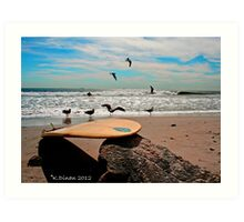 Perfect Beach Day! Art Print