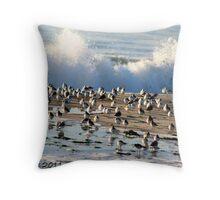 A Splash of Birds Throw Pillow