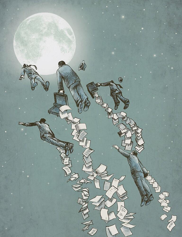 Flight of the Salary Men by Eric Fan