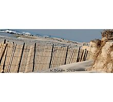 Fenced in Dune Photographic Print