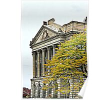 """""""Luzerne County Courthouse In Fall"""" Poster"""