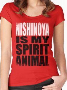 Nishinoya is my Spirit Animal Women's Fitted Scoop T-Shirt