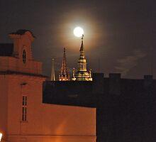 Full Moon At St.Vitus Cathedral Prague. by dalekenworthy