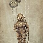 Balloon Fish (Sepia) by Eric Fan