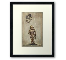 Balloon Fish (Sepia) Framed Print