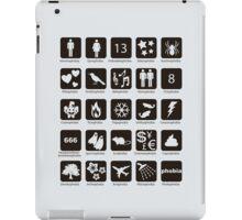 Phobia list iPad Case/Skin