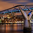 The Millenium Bridge at Night by Mark Cass