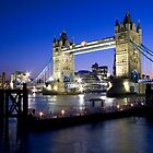 Tower Bridge at Night by Mark Cass