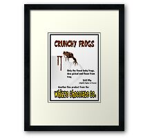 Crunchy Frogs - Whizzo Chocolate Co. Framed Print
