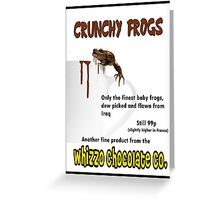 Crunchy Frogs - Whizzo Chocolate Co. Greeting Card