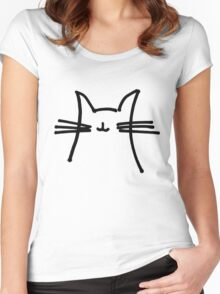 Cat Goes Chirp Women's Fitted Scoop T-Shirt