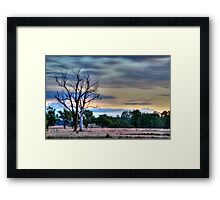 just before dark Framed Print