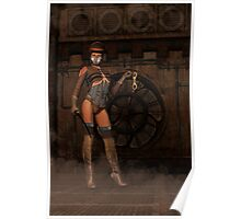 Steampunk Sally - Dominatrix Poster