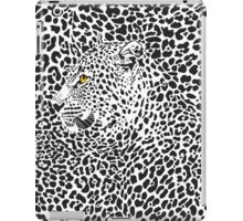 Black & White Camouflaged Leopard Design iPad Case/Skin