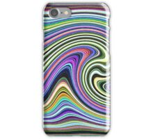 Curved Layers of Colors iPhone Case/Skin
