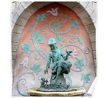 Cinderella Fountain Disneyland Paris Poster