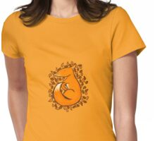 Sleeping Fox Womens Fitted T-Shirt