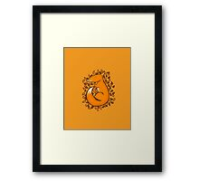 Sleeping Fox Framed Print