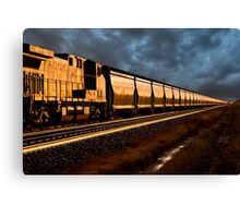 Train at Sunset Canvas Print
