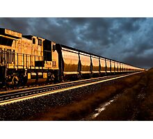 Train at Sunset Photographic Print