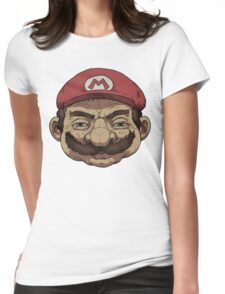 Old Mario Womens Fitted T-Shirt