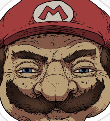 Old Mario Sticker