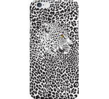Black & White Camouflaged Leopard Design iPhone Case/Skin