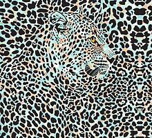 Black & Pastel Tones Camouflaged Leopard Design by artonwear