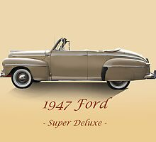 1947 Ford Super Deluxe Convertible w/ID by DaveKoontz