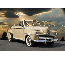 1947 Ford Super Deluxe Convertible w/clouds Photographic Print